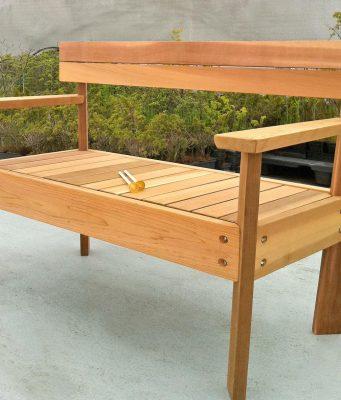 ספסל עץ ללא משענת מחיר